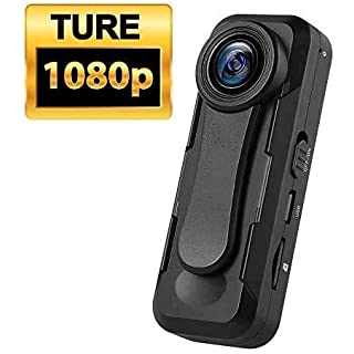 BOBLOV W1 True 1080P Small Body Camera Personal Pocket Video Camera with Audio Loop Recording Time Stamps External Memory Up to 128G(not Included) Two Clips and Easy to Operation