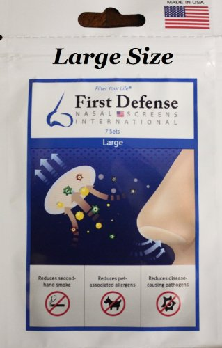 First Defense Nasal Screens - Pick-A-Size and Quantity Packs (10-Pack, Large)