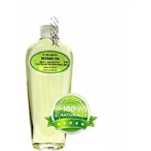 Sesame Seed Oil From Raw Seed Unrefined Cold Pressed Pure Organic 8 Oz