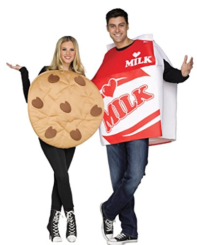Halloween Costumes Ideas For Kid Couples (Fun World Unisex Cookies & Milk Adult Cstm, Mulricolor,)