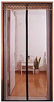 DYR Puerta de Malla magnética para Puertas corredizas de Vidrio, Puertas de Pantalla con imanes para Puertas corredizas, Puertas de Fibra de Vidrio Exterior 36x80, Cortina de Malla de Servicio Pesado: Amazon.es: