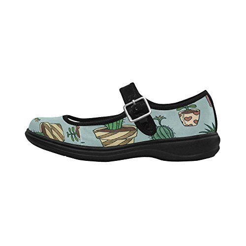 InterestPrint Womens Comfort Mary Jane Flats Casual Walking Shoes sffZS