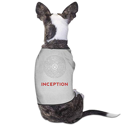 Yanyulin Fashion Style Tee Inception Dog Cat Puppy Clothes Suit for Pet Tee Shirts Costumes Tank Top Vest