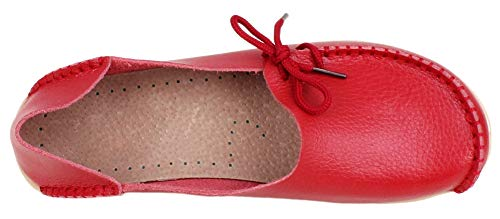Basso Collo A Donna Flats Rosso Fangstoloafer WtEUwYqn