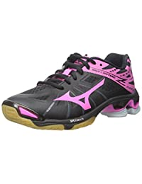 Mizuno Women's Wave Lightning Z WOMS BK-PK Volleyball Shoe, Black/Pink