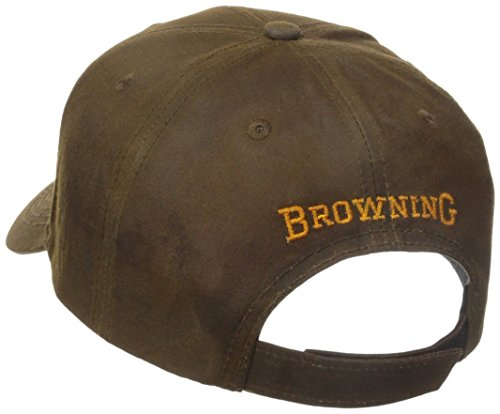Browning 3-D Buckmark Dura-Wax Cap, Brown, Semi-Fitted