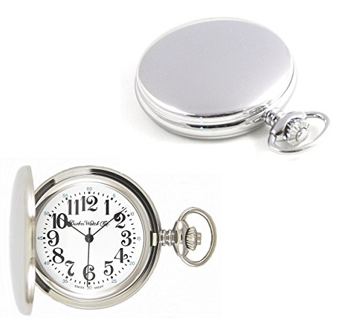 Dueber Watch Co Swiss Steel Hunting Case Pocket Watch with Railroad Style Dial by Dueber Watch Co