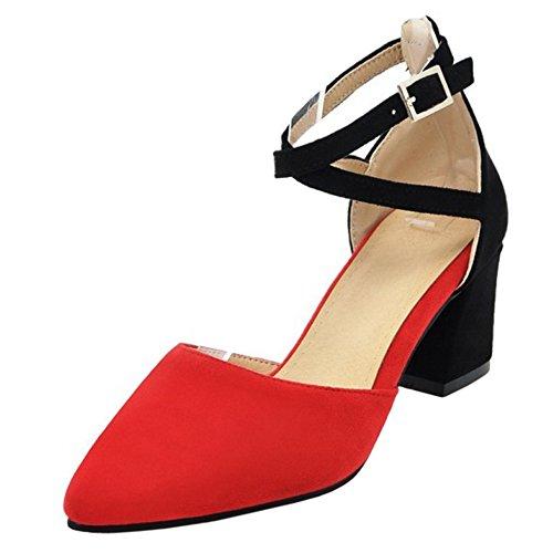 Femmes AicciAizzi Escarpins Red Bout Ferme dqwxvS1qT