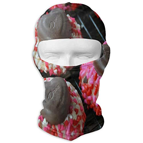 - Balaclava Valentine's Day Bean Cookies Full Face Masks UV Protection Ski Hat Womens Tactical Hood for Sports
