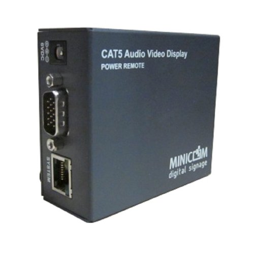 C2G/Cables to Go 50089 Minicom Cat5 Audio Video Display Powered Remote - Grey