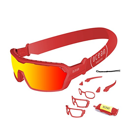 Ocean Sunglasses 3700.5X Lunette de Soleil Mixte Adulte, Rouge