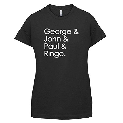 Dressdown George & John & Paul & Ringo - Womens T-Shirt-Black-Large