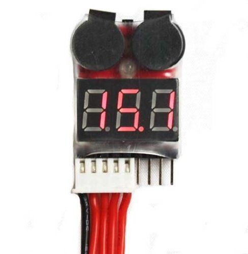 - SMAKNÂ 1-8S Battery Checker and Low Voltage Buzzer Alarm Plus BlueMart Cable Tie