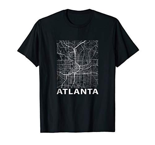 Atlanta Georgia ATL Street Map Peach State T shirt