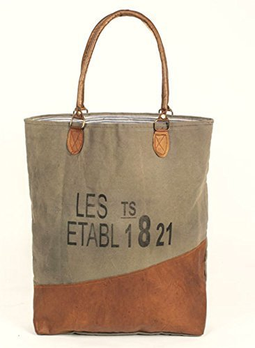 0ccd3381ad9e Glory   Grace Rustic French Les Etabl 1821 Natural Canvas and Leather Travel.  Laptop