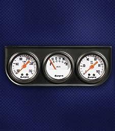 Sunpro CP8091 Mini Triple Gauge Kit - White Dial