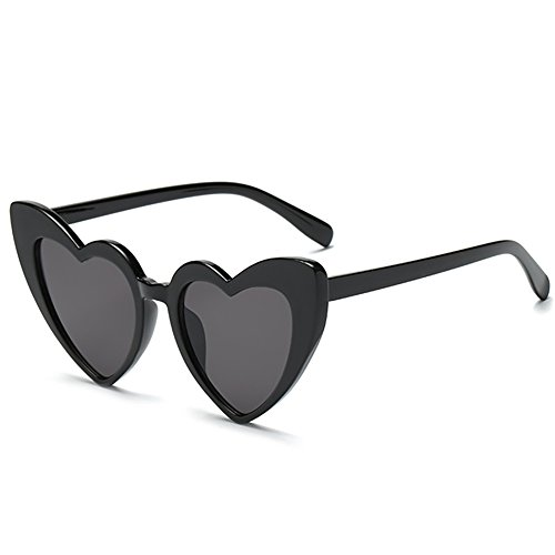 Love Heart Shaped Sunglasses Women Vintage Cat Eye Mod Style Retro - Heart Face Glasses
