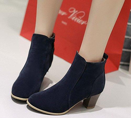 36 Bleu Boots Chelsea Femme Bleu HiTime 5 SxXqUa