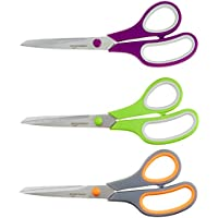 AmazonBasics Multipurpose Scissors - 3-Pack