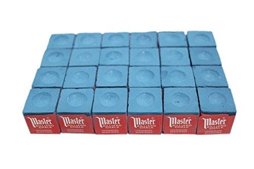 24 pcs Blue Master Pool Cue (Master Billiard Pool Cue Chalk)
