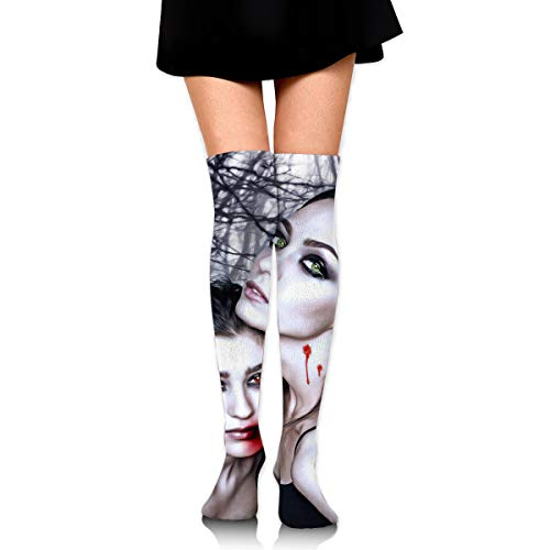 Halloween Vampire Fantasy Girl Blood Gothic Goth Ankle Stockings Over The Knee Sexy Womens Sports Athletic Soccer -