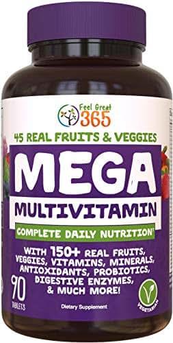 MEGA Multivitamin 150 - Super High Quality Immune System Support* - Promotes Super Immunity, Energy & Mental Focus* - A Complete Blend of 150+ Vitamins, Minerals, Antioxidants & More