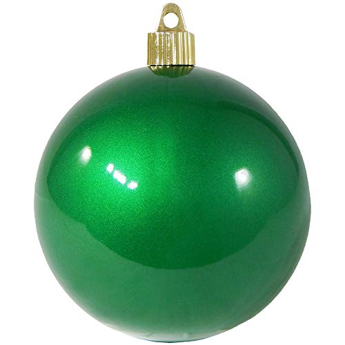 Christmas by Krebs KBX72976 Shatterproof Christmas Ball Ornament, 4-Inch, Candy Green