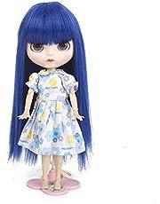 MUZIWIG Pop Haar Pruiken voor Blythe Poppen met 9 ~ 10 inch Hoofd Hittebestendige Synthetische Pop Haaraccessoires