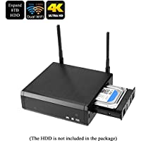 Tekit Android 6.0 TV Box Media player - 4K, Kodi, RTD1295 Quad Core CPU, T820 GPU, 2GB DDR4 RAM, SATA3.0 Up To 8TB, Dual Band Wi-Fi