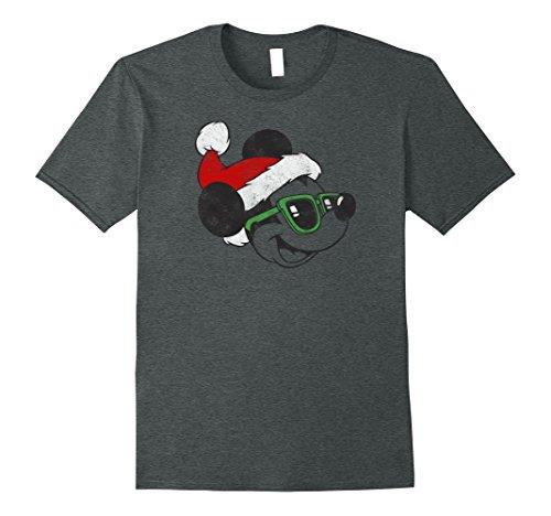 Mens Disney Cool Santa Mickey Mouse Christmas T Shirt