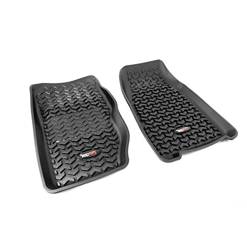 Liner Row Floor (Rugged Ridge All-Terrain 12920.25 Black Front Row Floor Liner For 1984-2001 Jeep Cherokee XJ Models)