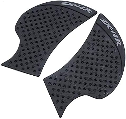 Motorcycle Gas Tank Traction Side Knee Grips Pads Protector Sticker Decal For Kawasaki ZX6R-636 2007-2008 Black 2 PCS