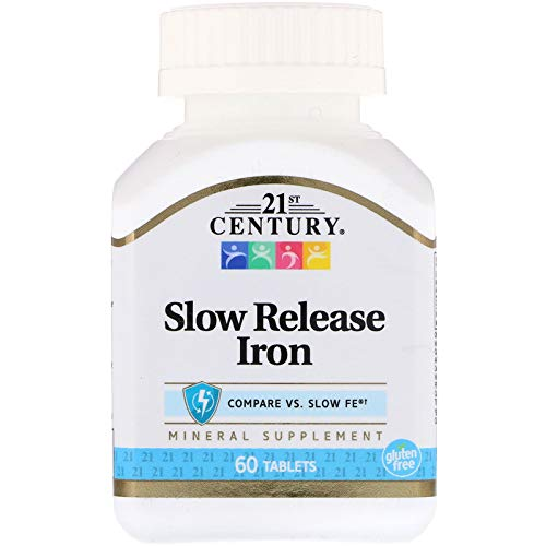 (21st Century Slow Release Iron Tablets 60 ea (Pack of 3) - Packaging May Vary)