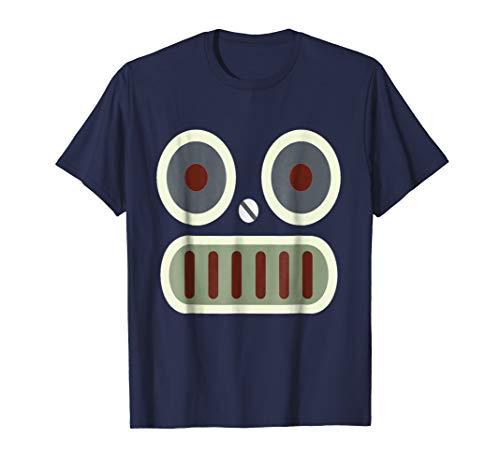 Robot Face Halloween Simple Costume T-shirt ()