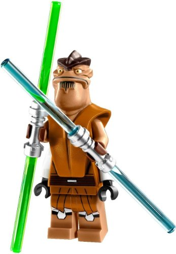 LEGO Star Wars Minifigure - Jedi Master Pong Krell with Dual Lightsabers (75004)