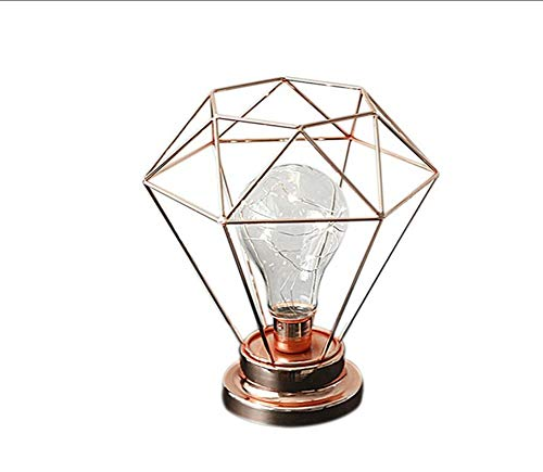 Lámpara de mesa de terrario de metal estilo retro de ...