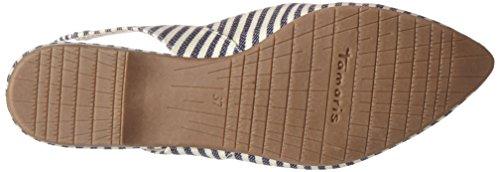 Multicolore Sandali Stripes Navy Donna Zeppa 29406 874 con Tamaris BHxvXAn