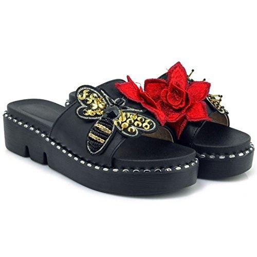 su Donne 2 Mode Mules black Heels Sandali Scivolare Zanpa waxXqd0Td