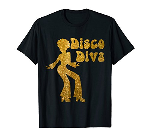 Disco Diva T Shirt - Retro 70's Seventies Retro Disco Ball -