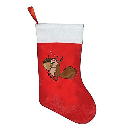 coconice Cute Animal Squirrel Nuts Christmas Holiday Stockings by coconice