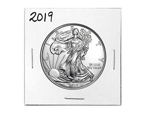 2019 - American Silver Eagle .999 Fine Silver with Our Certificate of Authenticity Dollar Uncirculated Us Mint ()