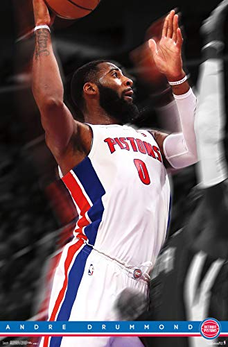 Trends International Detroit Pistons-Andre Drummond Clip Bundle Wall Poster, 22.375