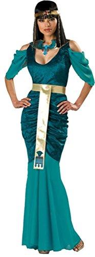 Egyptian Jewel Cleopatra Costumes (InCharacter Costumes Women's Egyptian Jewel Adult Costume, Turquoise/Gold, Medium)