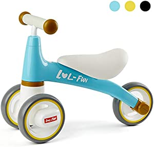 LOL-FUN Baby Balance Bike No Pedal 1 Year Old Birthday Gift, Baby Walker for Boy and Girl