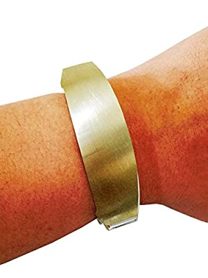 """Fitbit Bracelet for Fitbit Flex Activity Trackers - The TORY 7"""" Inch Brushed Gold Bangle Fitbit Bracelet (7"""" Brushed Gold)"""