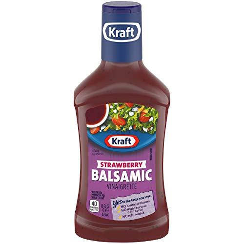 (Kraft Strawberry Balsamic Vinaigrette Dressing, 16 fl oz Bottle)