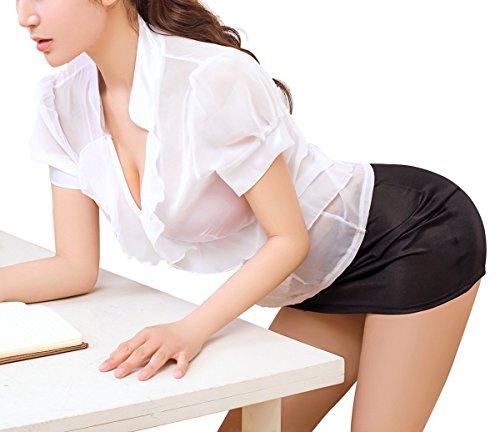 秘書 OL 女教師 セクシー コスチュームセット ランジェリーセット 制服 過激 誘惑 ストッキング付き ETShine