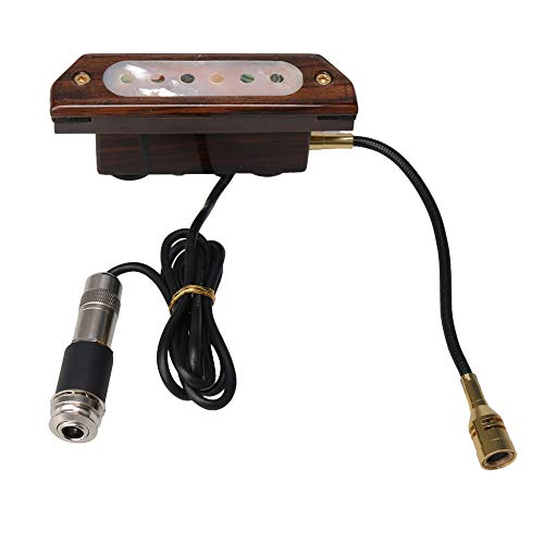 Lovermusic Guitar Pickup Magnetic Soundhole Pickup with Microphone for Acoustic Guitar ()