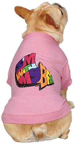 Large Zack & Zoey UM1102 20 75 I'm with My BFF Tee for Dogs, Large, Pink