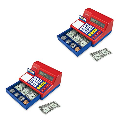 Learning Resources Pretend & Play Calculator Cash Register, Classic Counting Toy, 73 Pieces, Ages 3+ - 2 Pack
